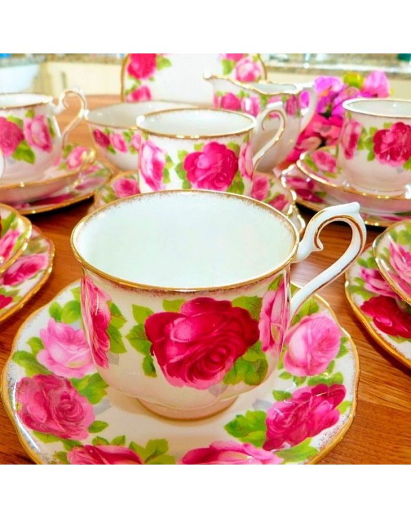 (OUT OF STOCK) ROYAL ALBERT OLD ENGLISH ROSE MILK ...