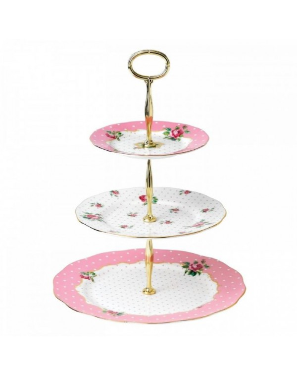 (OUT OF STOCK) ROYAL ALBERT CHEEKY PINK CAKE STAND