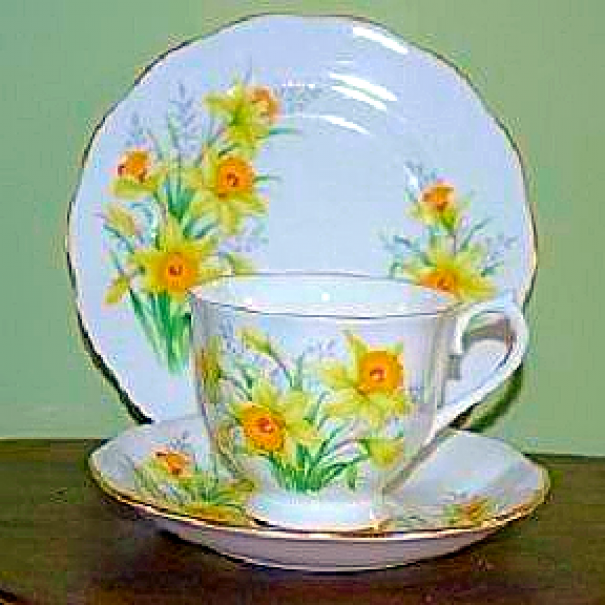 (OUT OF STOCK) ROYAL ALBERT DAFFODIL TRIO