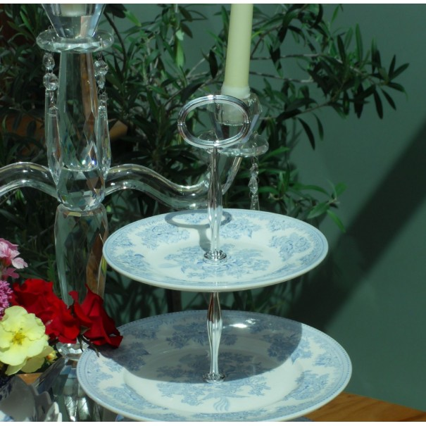 BURLEIGH ASIATIC CAKE STAND 2 TIER