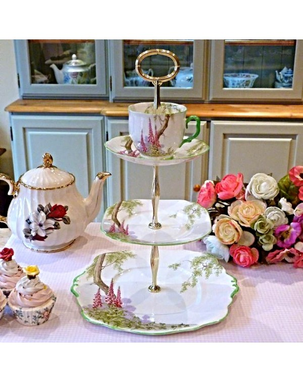 (OUT OF STOCK) TEA CUP  CAKE STAND ROYAL ALBERT FO...