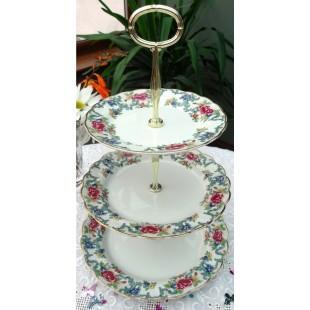 BOOTHS FLORADORA CAKE STAND