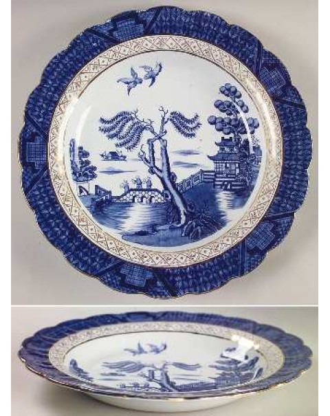 (OUT OF STOCK) BOOTHS REAL OLD WILLOW SOUP PLATE