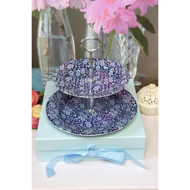 (OUT OF STOCK) BLUE CALICO 2 TIER CAKE STAND