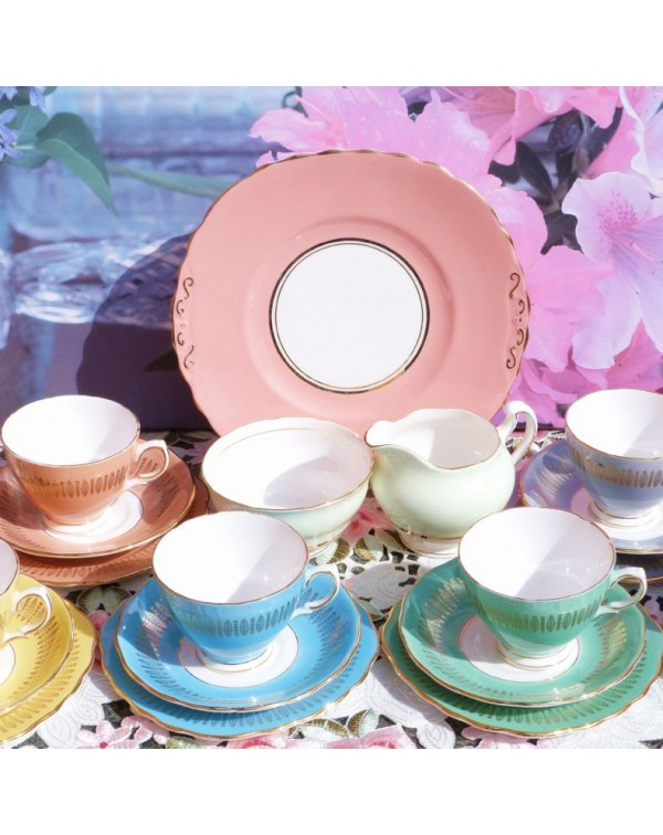(OUT OF STOCK) COLCLOUGH HARLEQUIN TEA SET