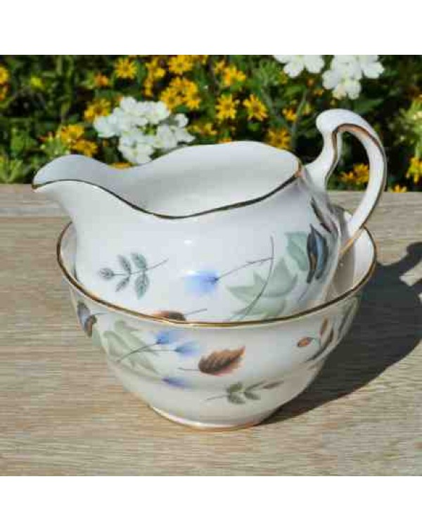 COLCLOUGH LINDEN MILK JUG & SUGAR BOWL