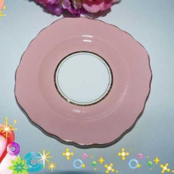 (OUT OF STOCK) COLCLOUGH PINK TEA PLATE