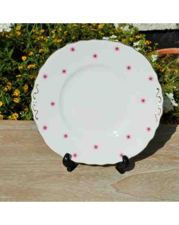 COLCLOUGH RED STAR CAKE PLATE