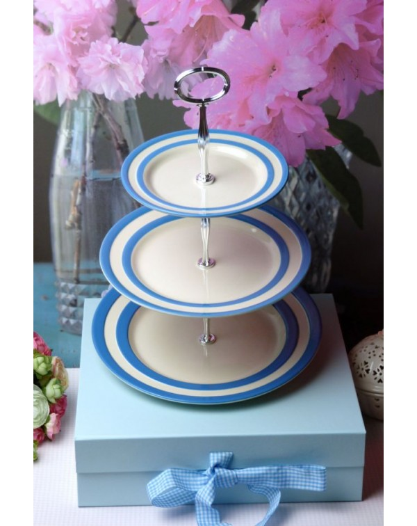 CORNISH BLUE CAKE STAND