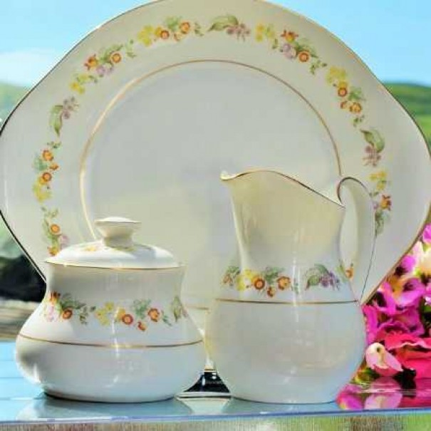 (OUT OF STOCK) DOULTON SYPHONY CAKE PLATE SET