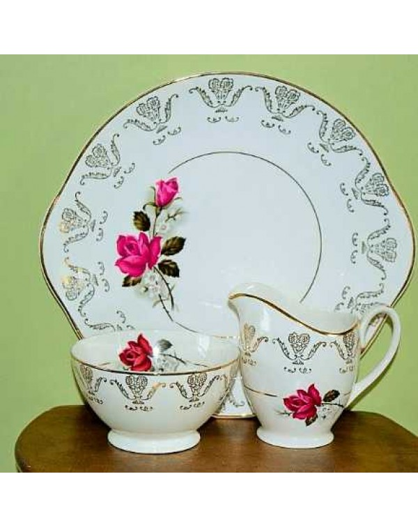 (OUT OF STOCK) GEM CHINA CAKE PLATE SET