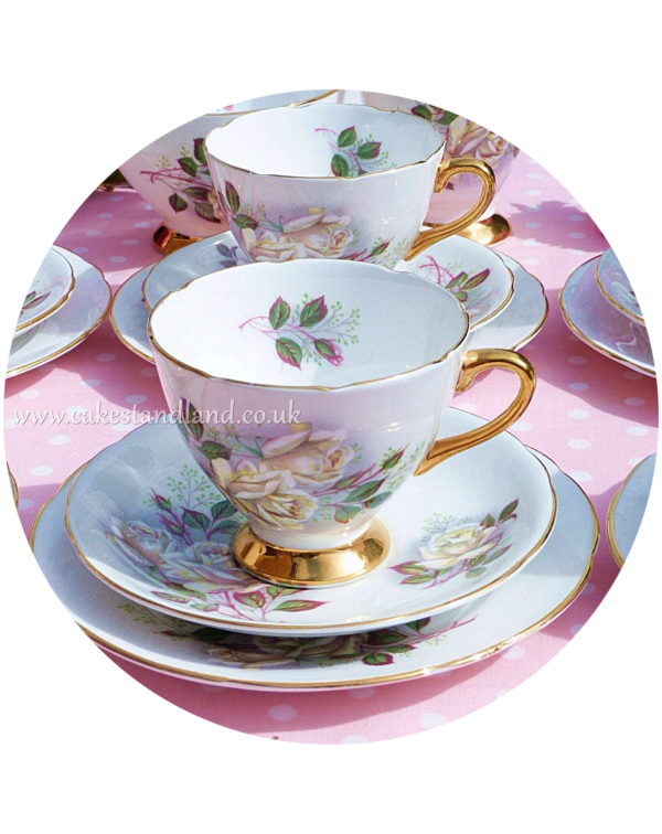 (OUT OF STOCK) GLADSTONE VINTAGE CHINA WHITE ROSE ...