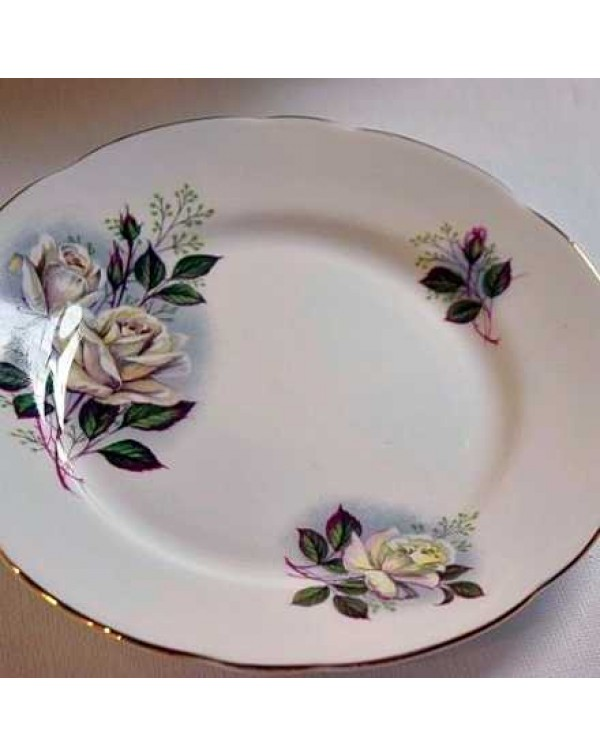 (OUT OF STOCK) GLADSTONE WHITE ROSE TEA PLATE