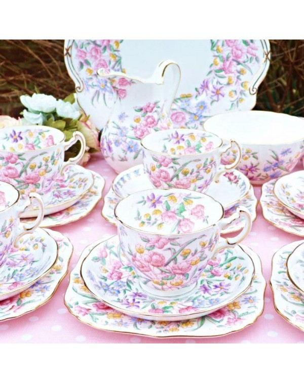 (OUT OF STOCK) HAMMERSLEY BRIDAL ROSE TEA SET