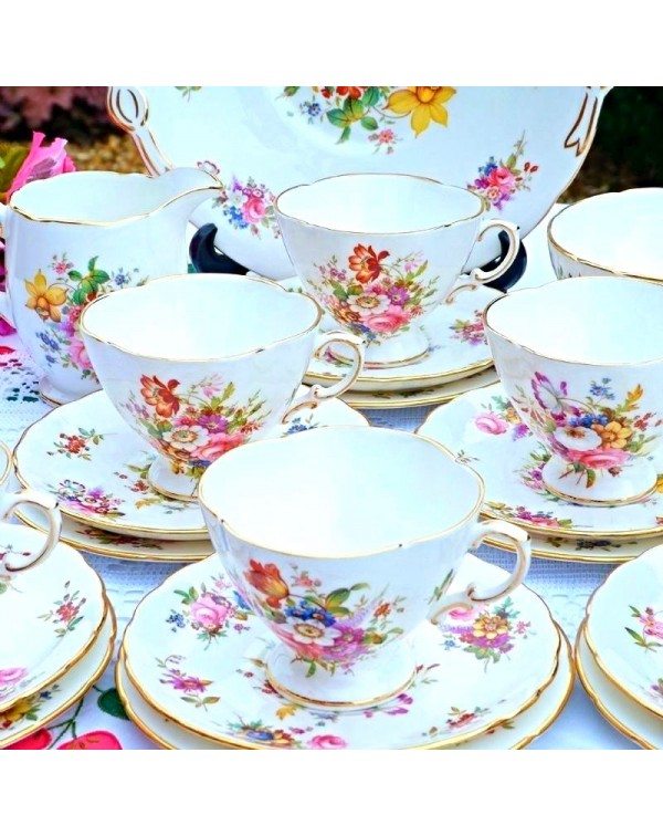 (OUT OF STOCK) HAMMERSLEY  FLORAL TEA SET