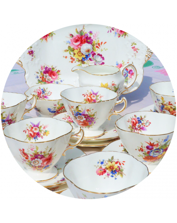 (OUT OF STOCK) HAMMERSLEY MINUET VINTAGE TEA SET