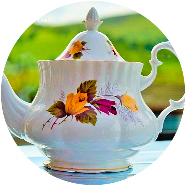 (OUT OF STOCK) HANLEIGH ROSES TEAPOT