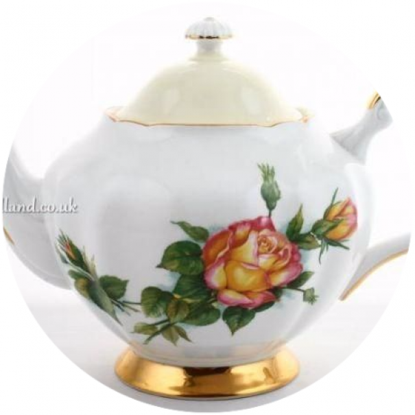 (OUT OF STOCK) HARRY WHEATCROFT PEACE ROSE TEAPOT
