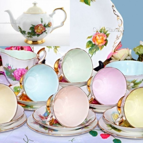 (OUT OF STOCK) HARRY WHEATCROFT VINTAGE TEA SET COMPLETE WITH TEAPOT
