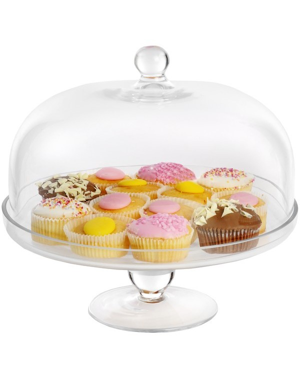(OUT OF STOCK) ITALIAN  GLASS CAKE STAND & DOM...