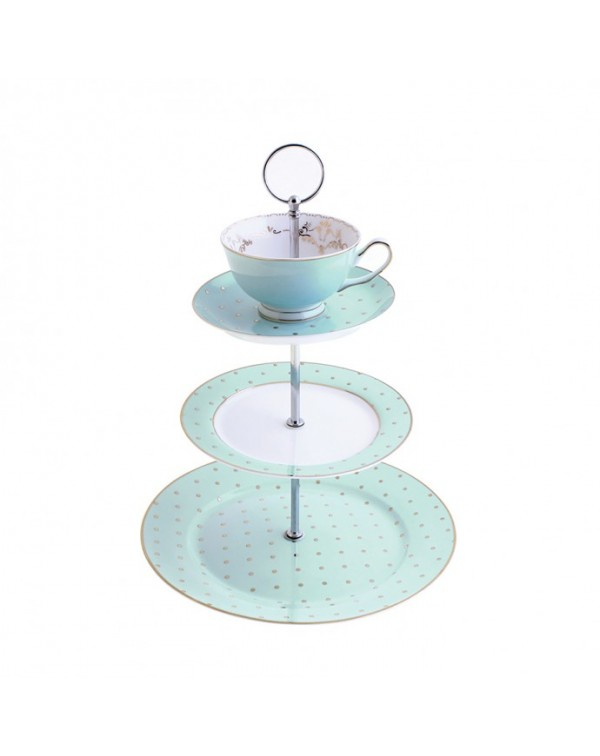 (OUT OF STOCK) JADE GOLD POLKA DOT TEA CUP TOPPED ...