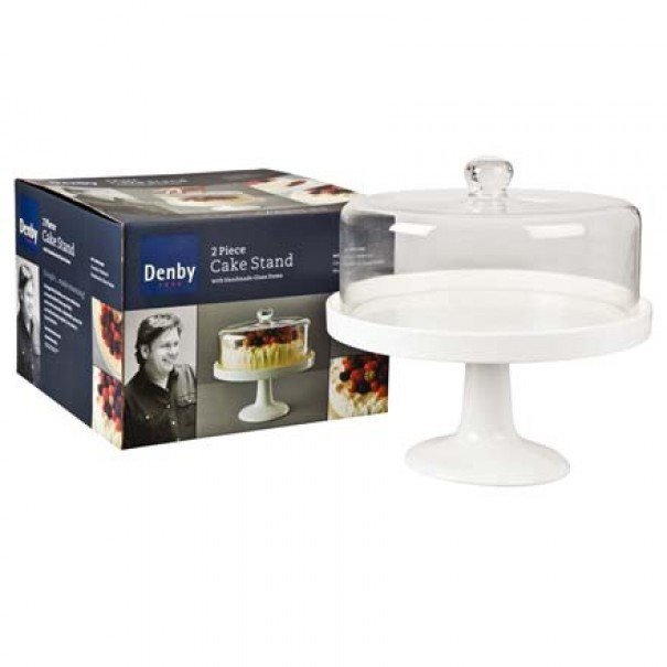 (OUT OF STOCK) JAMES MARTIN DENBY CAKE STAND AND GLASS DOME