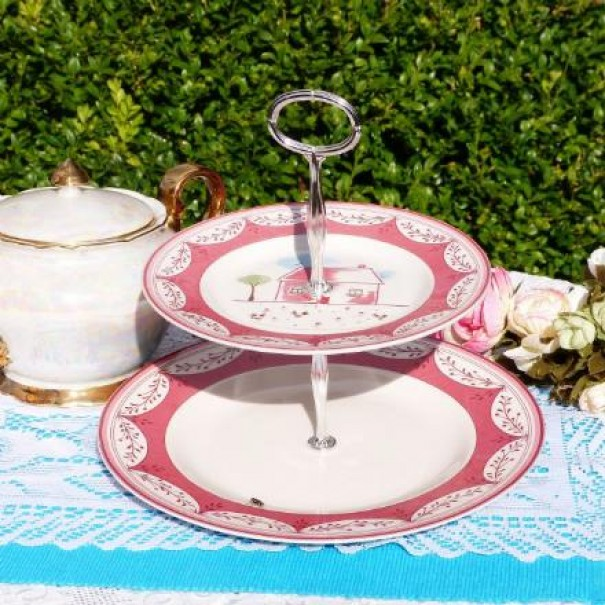 JOHNSON BROTHERS FARMHOUSE CAKE STAND