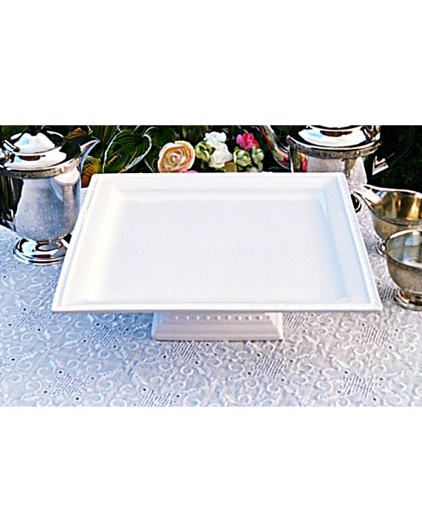 (OUT OF STOCK) LARGE WHITE SQUARE PEDESTAL CAKE ST...