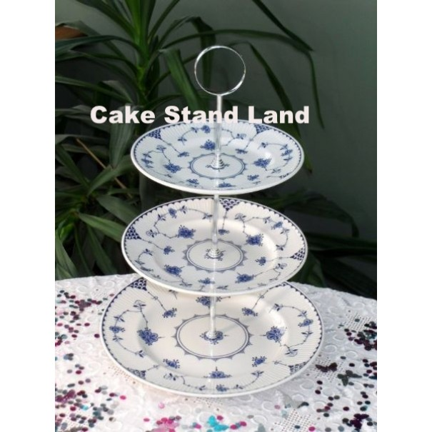 (OUT OF STOCK) MASONS BLUE DENMARK CAKE STAND