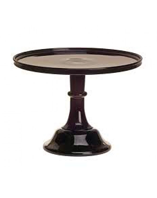(OUT OF STOCK) MILK GLASS CAKE STAND LARGE BLACK
