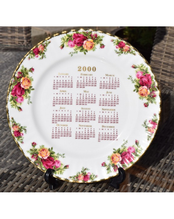 (OUT OF STOCK) OLD COUNTRY ROSES CALENDAR PLATE