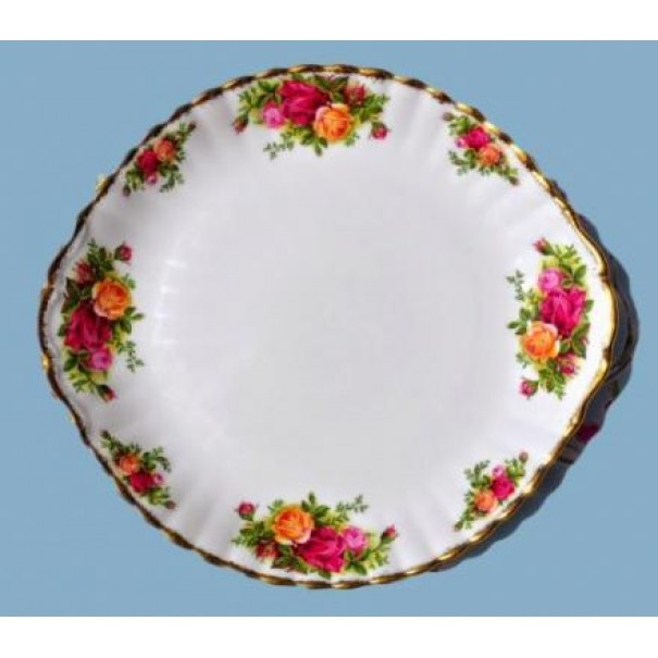 (OUT OF STOCK) OLD COUNTRY ROSE LARGE CAKE PLATE