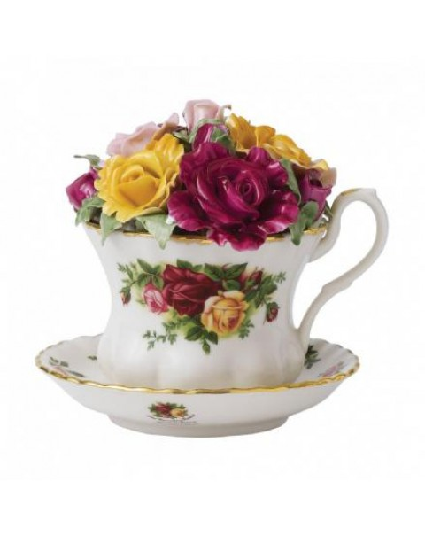OLD COUNTRY ROSES MUSICAL TEA CUP