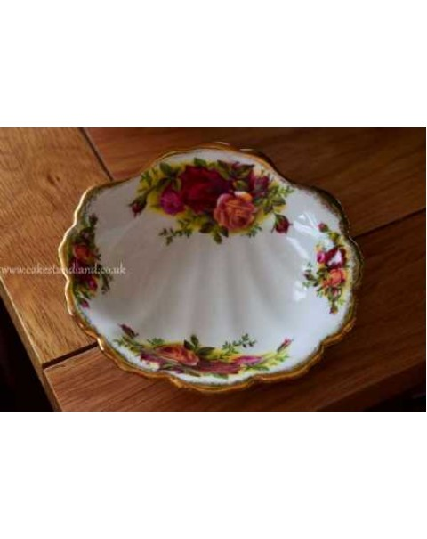 (OUT OF STOCK) OLD COUNTRY ROSES SHELL DISH