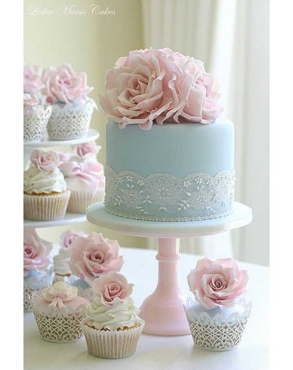 (OUT OF STOCK) PINK PEDESTAL CAKE STAND