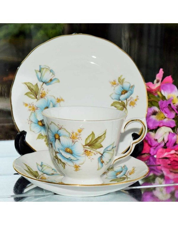 (OUT OF STOCK) QUEEN ANNE BLUE POPPY TRIO