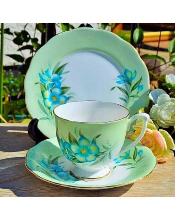 (OUT OF STOCK) QUEEN ANNE CLEMATIS TEA TRIO