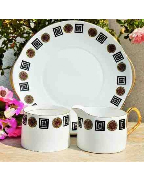 (OUT OF STOCK) QUEEN ANNE CAKE PLATE SET