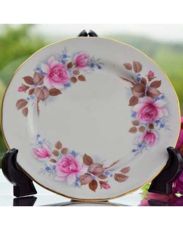 QUEEN ANNE ROSE TEA PLATE