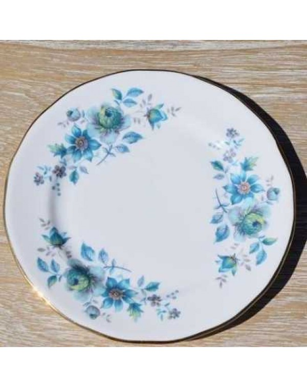 (OUT OF STOCK) QUEEN ANNE BLUE FLORAL TEA PLATE