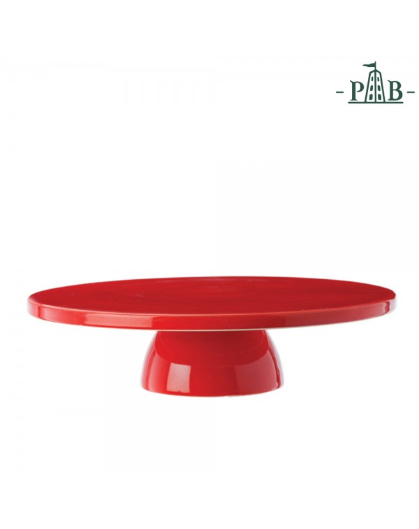 RED PORCELLNA CAKE STAND