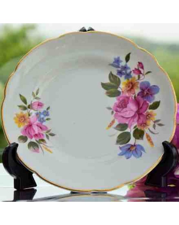 (OUT OF STOCK) REGENCY FLORAL TEA PLATE