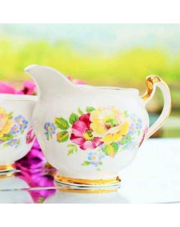 REGENT WILD ROSE MILK JUG & SUGAR BOWL