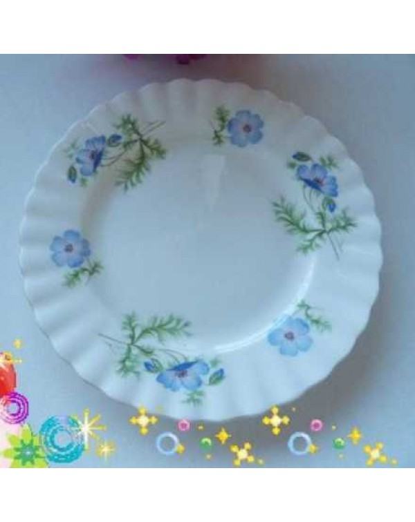 RICHMOND BLUE POPPY TEA PLATE