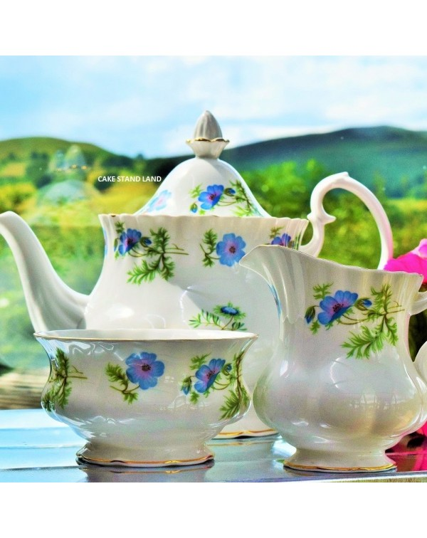 (OUT OF STOCK) RICHMOND BLUE POPPY TEA SET