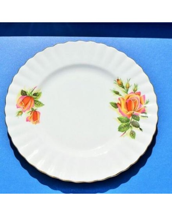 RICHMOND PEACH ROSE TEA PLATE