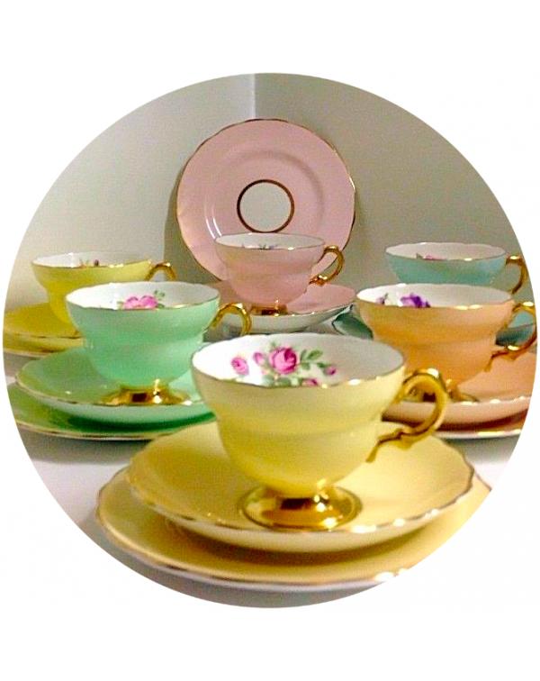 (OUT OF STOCK) ROSINA HARLEQUIN TEA SET