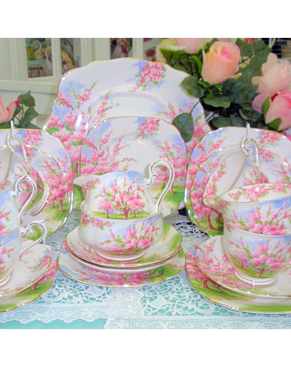 (OUT OF STOCK) ROYAL ALBERT BLOSSOM TIME TEA SET