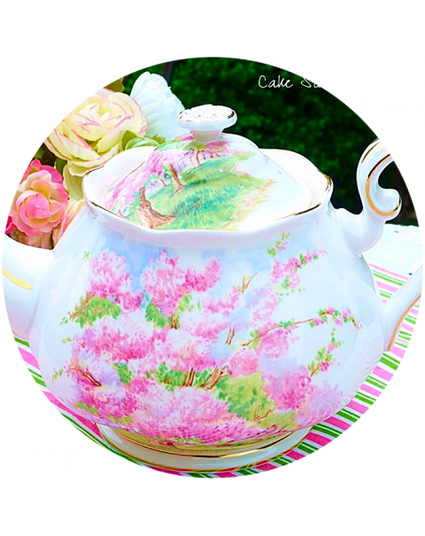 (OUT OF STOCK) ROYAL ALBERT BLOSSOM TIME  TEAPOT