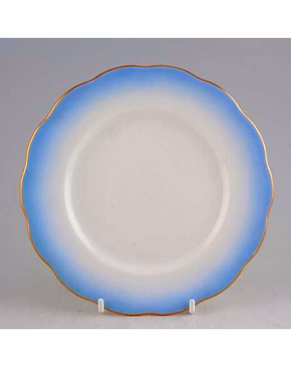 ROYAL ALBERT RAINBOW BLUE TEA PLATE
